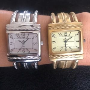 Premier Designs Cairo bundle of 2 bangle watches
